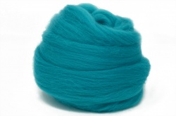 Dyed Corriedale Wool: Turquoise 100gm