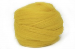 Dyed Corriedale Wool: Yellow 100gm